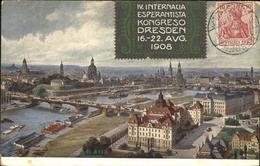 11297753 Esperanto Kongreso Dresden Vogelperspektive II  Besonderheiten - Cartes Postales