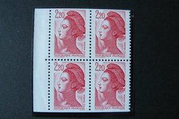 France - Yvert N° 2427a (bloc De 4) Neuf ** (MNH) - Provenant De Carnet - 1982-90 Liberté De Gandon