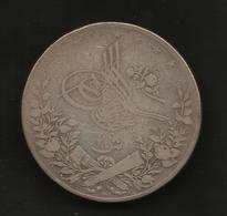 EGYPT - Abdul Hamid II -  20 QIRSH ( 1293 / 10 - 1884 ) SILVER - Egypt
