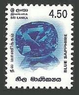 SRI LANKA 2003 MINERALS NATIONAL GEMSTONE BLUE SAPPHIRE MNH - Sri Lanka (Ceylon) (1948-...)
