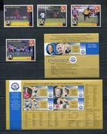 PAPUA NEW GUINEA 2004 Mi # 1084 - 1087 + M/S + Bl 30 FIFA FOOTBALL MNH - Papua New Guinea
