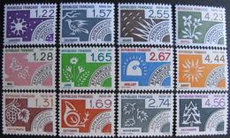 LOT FD/1815 - 1985 - TIMBRES PRE-OBLITERES - LES MOIS DE L'ANNEE - N°186 à 197 - NEUFS** (SERIE COMPLETE) - Cote : 20 € - Francia