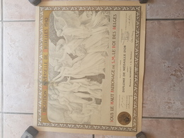 BRUXELLES 1910  DIPLOME DE MEDAILLE D OR - Diploma & School Reports