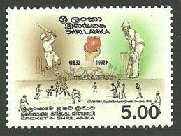 SRI LANKA 1992 SPORT CRICKET SET MNH - Sri Lanka (Ceylon) (1948-...)