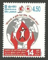SRI LANKA 2004 MEDICAL BLOOD DONOR DAY SET MNH - Sri Lanka (Ceylon) (1948-...)