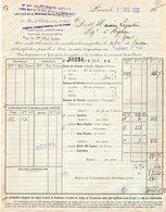 PARIS IX  PETROLES JUPITER   LES FILS DE A DEUTSCH DE LA MEURTHE   -   FACTURE 1923  POUR AIGNAN - Cars