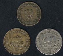 Libanon, Lot: 10 Piastres 1955, 5  + 10 Piastres 1961 - Lebanon