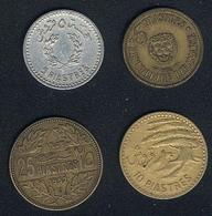 Libanon, Lot: 5 Piastres 1954 + 1955, 10 Piastres 1955, 25 Piastres 1952 - Lebanon