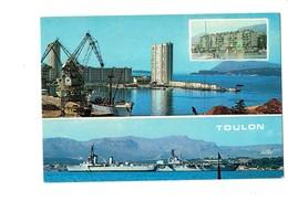 Cpm - 83 - Toulon - Multivues - PORT - Bateau Grue - - Toulon