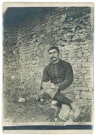 Photo Soldat Assis - Guerre, Militaire