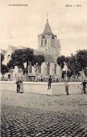 Alveringen - Kerk Met Animatie (rond 1910) - Alveringem