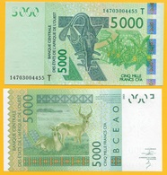 West African States 5000 Francs Togo (T) P-817Tl 2014 UNC - West African States