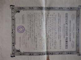 Certificat D'études Primaires à Mr Bourillon Marc Jacques Né Le 2 Mai 1914 à Olivet (Loiret). - Diploma & School Reports