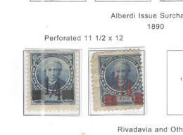 Argentina PO 1890 Alberdi Surch.  Scott.83+84+ See Scans On Scott.Page - Nuovi
