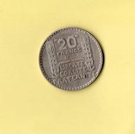 20 Francs Thurin 1937 - Frankreich
