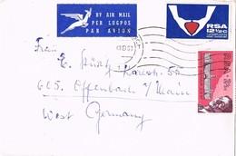 28315. Carta Aerea STELLENBOSCH (South Africa) 1969 To Germany - África Del Sur (1961-...)
