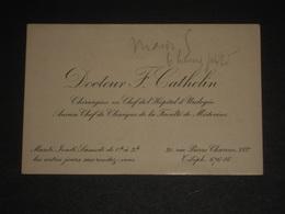Ancienne Carte De Visite Paris XVIe Docteur F. Cathelin - Chirurgien En Chef Hopital Urologie ~1900 - Rue Pierre Charron - Cartoncini Da Visita