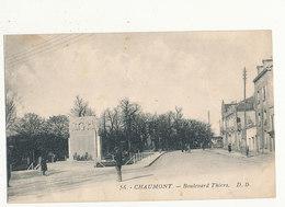 52 CHAUMONT BOULEVARD THIERS CPA BON ETAT - Chaumont