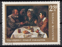 "Ungheria 1968 Sc. 1904 ""The Breakfast"" Apostolo Quadro Dipinto Diego Velazquez Barocco Paintings CTO  Magyar Hungary - Arts"