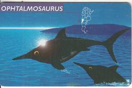 ARGENTINA(chip) - Ophtalmosaurus, Telefonica Telecard(F 72), 06/97, Used - Argentina