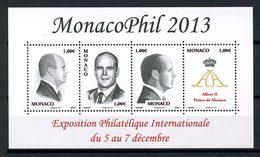 MONACO 2013 N° 2903/2906 ** ( F2903 ) Neufs MNH Superbes SAS Prince Albert II MonacoPhil Monogramme Exposition - Monaco