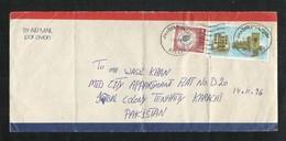 Saudi Arabia Air Mail Postal Used Cover Makkah To Pakistan Jeddah Stamps - Saudi Arabia