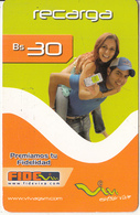 BOLIVIA - Couple With Phone, Viva Prepaid Card Bs 30, Exp.date 30/12/08, Used - Bolivia