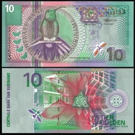 Suriname 10 GULDEN 2000 P 147 UNC - Surinam