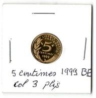 Très Rare 5 Centimes Marianne  Belle épreuve Cotée Gadhoury 180 € Col 3 Plis - C. 5 Centimes