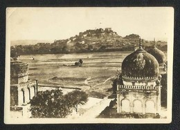 India Golconda Fort Black & White Photography Picture Photo Card Size 8 1/2 X 6 Cm - India