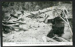 CPA - Le Pont Du Chemin De Fer De Pecquigny Détruit Par Les Français, Animé - Guerre 1914-18