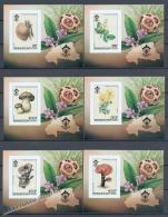 Alto Volta - Haute 1984 Micehl BL 81B-86B , Mushrooms Non Perforated - Miniature Sheet - MNH - Upper Volta (1958-1984)
