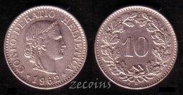 SWITZERLAND  - 1 Coin Of 10 Rappen - 1962 - Switzerland