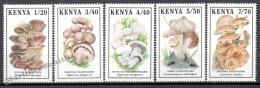 Kenya - Kenia 1989 Yvert 478-82, Mushrooms - MNH - Kenya (1963-...)