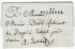 MP  83 TONNERRE Du 16.05.1812    (indice 7 = 30 € ) - Marcophilie (Lettres)