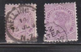 NEW ZEALAND Scott # 62 X 2 Used - Queen Victoria - 1855-1907 Crown Colony
