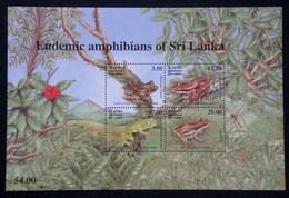 SRI LANKA 2001 REPTILES AMPHIBIANS FROGS HERPETOLOGY DRAGONFLY MNH - Sri Lanka (Ceylon) (1948-...)
