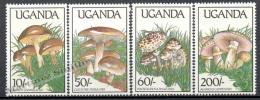 Uganda 1989 Yvert 563-66, Mushrooms - MNH - Uganda (1962-...)