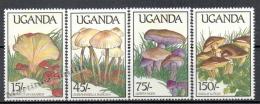 Uganda 1989 Yvert 571-74, Mushrooms - MNH - Uganda (1962-...)