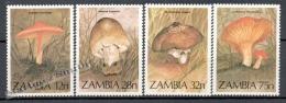 Zambia 1979 Yvert 313-16, Mushrooms - MNH - Zambia (1965-...)