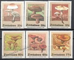 Zimbabwe 1992 Yvert 250-55, Mushrooms - MNH - Zimbabwe (1980-...)