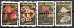 Barbuda Mail 1986 Yvert 844-47 Mushrooms - MNH - Antigua Et Barbuda (1981-...)