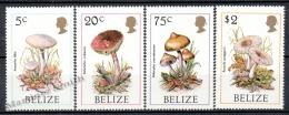 Belize 1986 Yvert 829-32 Mushrooms - MNH - Belize (1973-...)