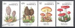 Dominica - Dominique 1991 Yvert 1346-49, Mushrooms - MNH - Dominica (1978-...)