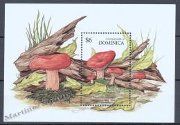 Dominica - Dominique 1991 Yvert BF 198, Mushrooms - Miniature Sheet - MNH - Dominica (1978-...)