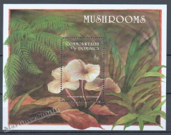 Dominica - Dominique 1994 Yvert BF 257, Mushrooms - Miniature Sheet - MNH - Dominica (1978-...)