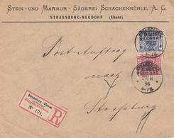Env Reco POSTAUFTRAG Affr Michel 47 + 48 Obl STRASSBURG / ELSASS- / NEUDORF Du 29.11.94 Adressée à Strasbourg - Marcophilie (Lettres)