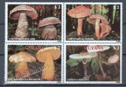 Guyana 1989 Yvert 2077-80 , Mushrooms - MNH - Guyana (1966-...)
