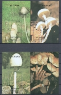 Guyana 1990 Michel BL 106-09, Mushrooms - Miniature Sheet - MNH - Guyana (1966-...)