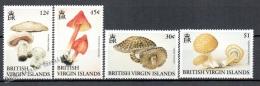 Virgin Islands - Islas Virgenes 1991 Yvert 704-07 , Mushrooms - MNH - British Virgin Islands